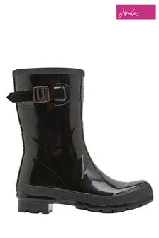 Joules Black Gloss Kelly Mid Height Welly