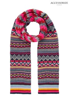 Accessorize Harvard Fairisle Pattern Scarf