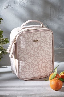 Pink Animal Print Lunch Bag