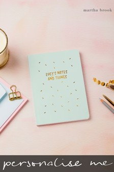 Personalised Gold Confetti Notebook by Martha Brook