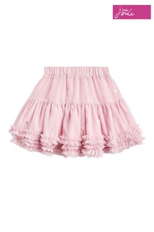 Joules Pink Lillian Girls Star Print Tutu Skirt