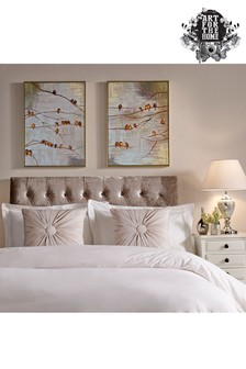 Set of 2 Flock Of Birds Canvases by Art For The Home