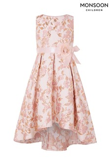 Monsoon Pink Florence Jacquard Dress