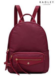 Radley Claret Medium Zip Top Backpack