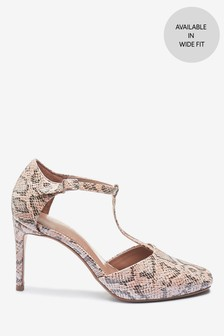 Square Toe T-Bar Heels
