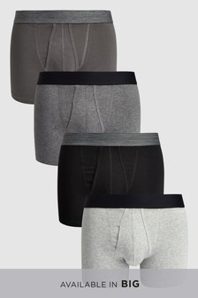 Plain Waistband A-Fronts Four Pack