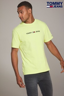 Tommy Jeans Yellow Small Text Tee