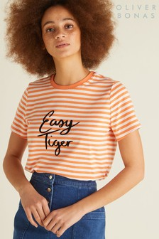 Oliver Bonas Orange Easy Tiger T-Shirt