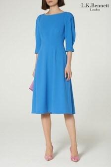 שמלה כחולה דגם Lemoni Hemmers של L.K.Bennett