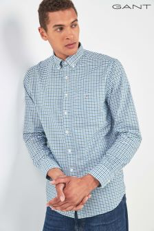 GANT Green Oxford Gingham Regular Fit Shirt