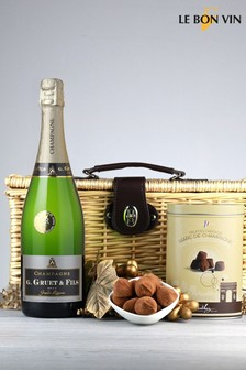 Le Bon Vin Champagne And Chocolate Truffles Gift Hamper