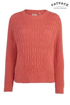 FatFace Roasted Red Audrey Cable Jumper