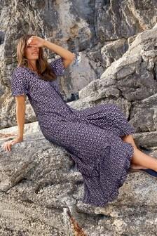 שמלת מקסי עם מלמלה