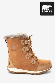 Sorel® Brown Youth Whitney™ Suede Boots