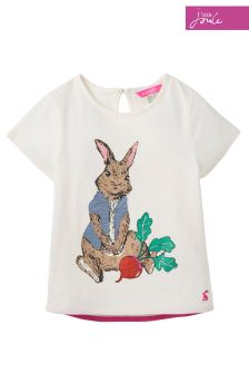 Official Peter Rabbit Movie Collection Joules Cream T-Shirt