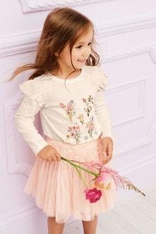 Floral Print Long Sleeve T-Shirt (3mths-7yrs)