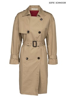 Sofie Schnoor Beige Love Is Love Trench Coat