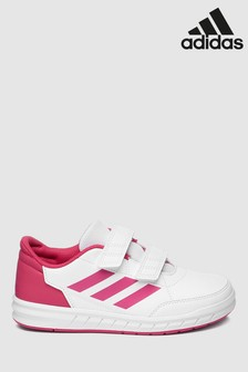adidas White/Pink Altasport Velcro Junior & Youth Trainers