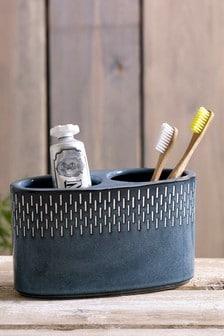 Organizador de cepillos de dientes de cerámica