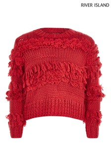 River Island Red Textured Jumper
