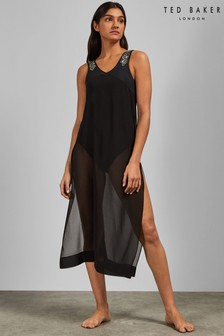 Ted Baker Black Embroidered Cover-Up
