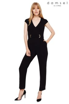 Damsel In A Dress Black Amelia City Suit Jumpsuit