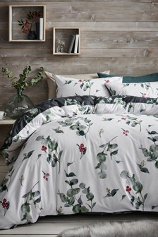 Winter Eucalyptus Duvet Cover and Pillowcase Set