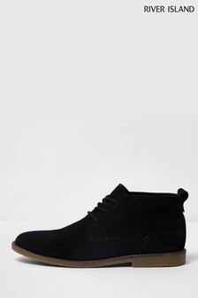 River Island Black Suede Chukka Boot