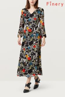 Finery Botanical Print Sakura Printed Georgette Dress