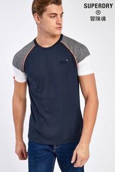 Superdry Grey Baseball T-Shirt