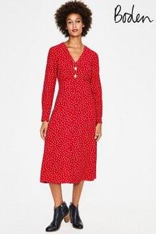 שמלת מידי של Boden דגם Elsie באדום