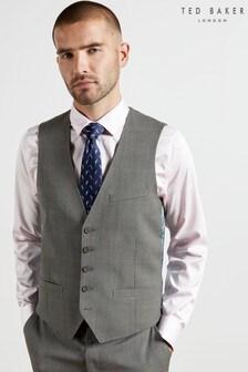 Ted Baker Oldemw Debonair Check Modern Fit Waistcoat
