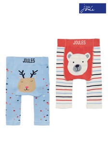 Joules Blue Baby Lively Christmas Character Legging