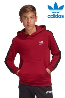 adidas Originals Burgundy Taped Sleeve Overhead Hoody