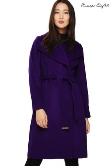 Phase Eight Purple Nicci Belted Coat