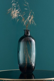 Smoke Glass Bottle Vase