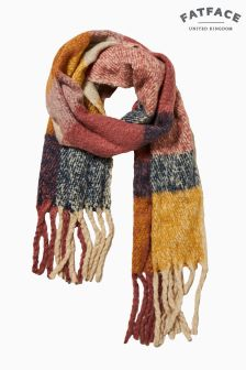 FatFace Pink Brushed Boucle Stripe Scarf