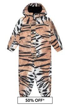 Molo Kids Tiger Print Snowsuit