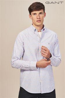 GANT Pink Oxford Gingham Regular Fit Shirt