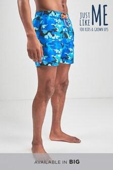 Мужские пляжные шорты из коллекции для всей семьи с камуфляжным принтом и акулами