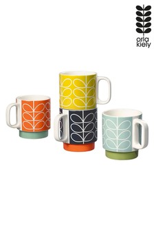 Orla Kiely Stacking Mugs Four Pack