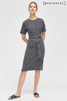 Warehouse Blue Stripe Dress