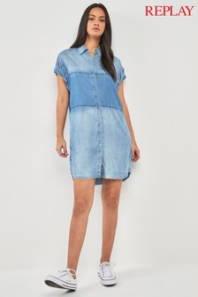 Replay® Denim Shirt Dress