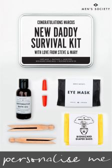 Personalised New Daddy Survival Kit by Mens Society