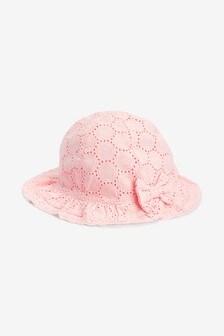 95f7204552c88 Broderie Hat (0mths-2yrs)