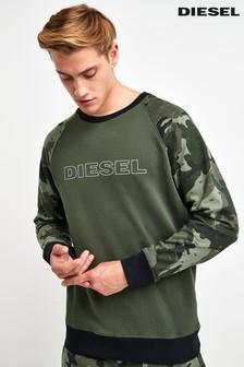 Diesel® Camo Logo Sweater