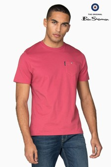 Ben Sherman Pink Classic Spade Pocket T-Shirt