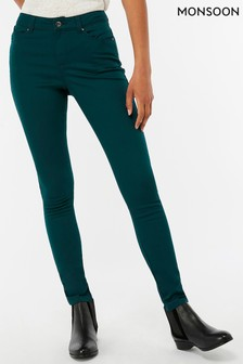 Monsoon Teal Nadine Over Lap Pocket Regular Jean