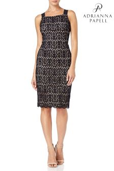 Adrianna Papell Black Jade Lace Sheath Dress