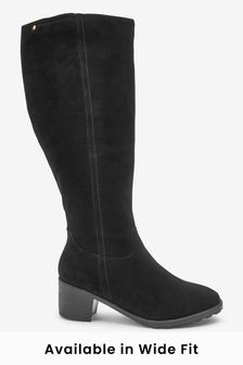 Forever Comfort® Block Heel Knee High Boots